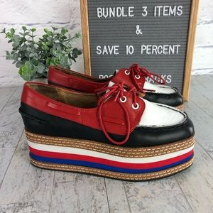Jeffery Campbell Top Form Leather Boat Shoes